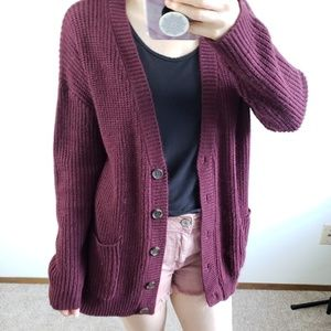 F21 slouchy button up cardigan